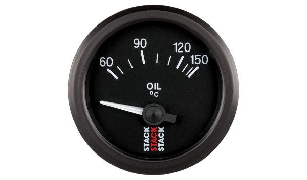 Stack Oil Temperature Gauge - Electrical (60-150°C)