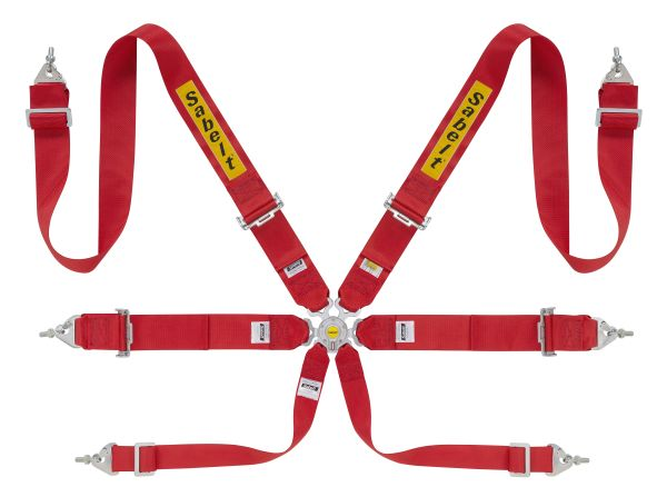 "Sabelt 6 Point 3"" FHR/HANS Harness"