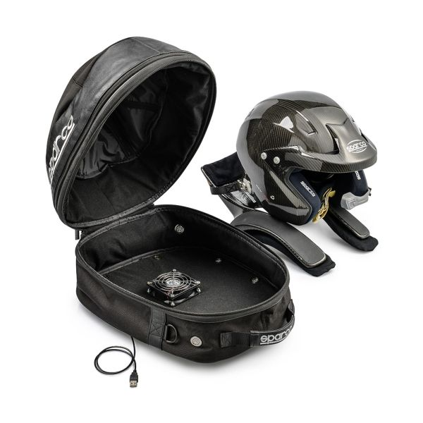 Sparco Cosmos Helmet and Hans bag