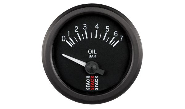 Stack Oil Pressure Gauge - Electrical (0-7 bar)