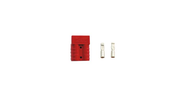 Red Anderson 50 ampere Jump Plug