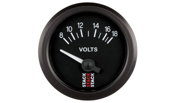 Stack Battery Voltmeter Gauge (8-18 V)