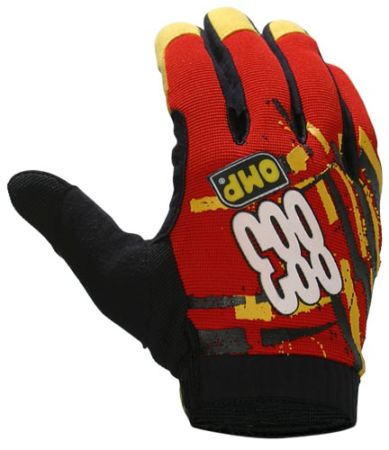 Omp 883 gloves red/L