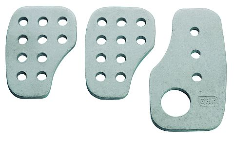 Smooth aluminium pedal set